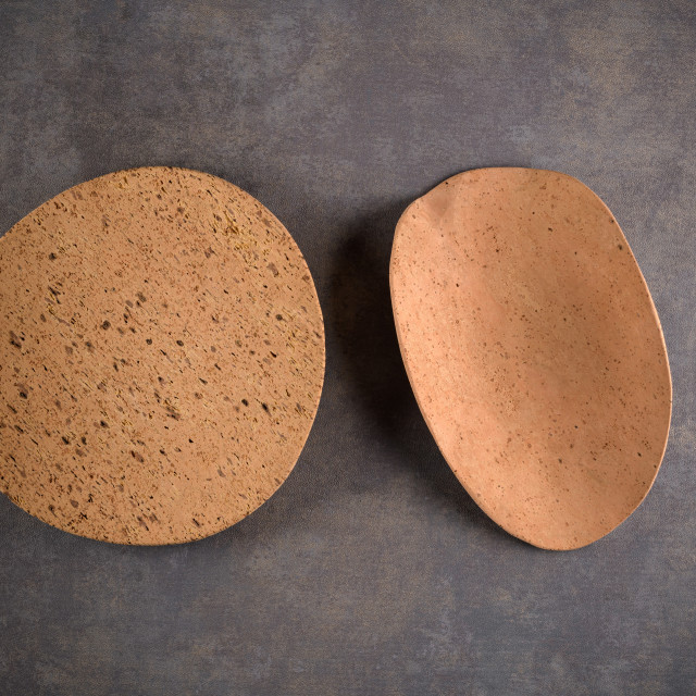 """""""Two cork plates"""" stock image"""