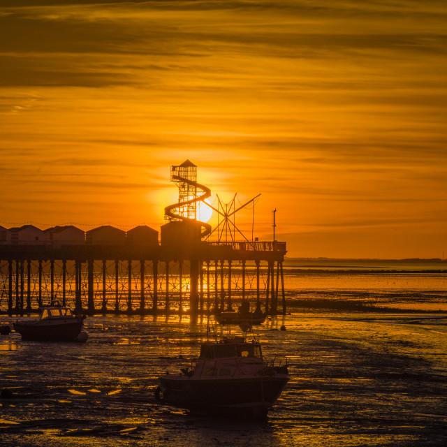 """Sunset Herne Bay, Kent"" stock image"