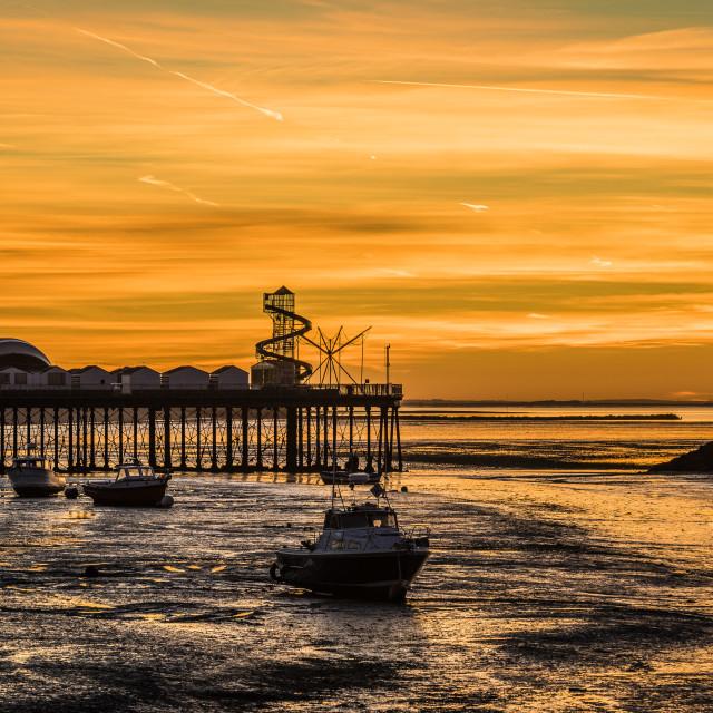 """Sunset Herne Bay Pier"" stock image"