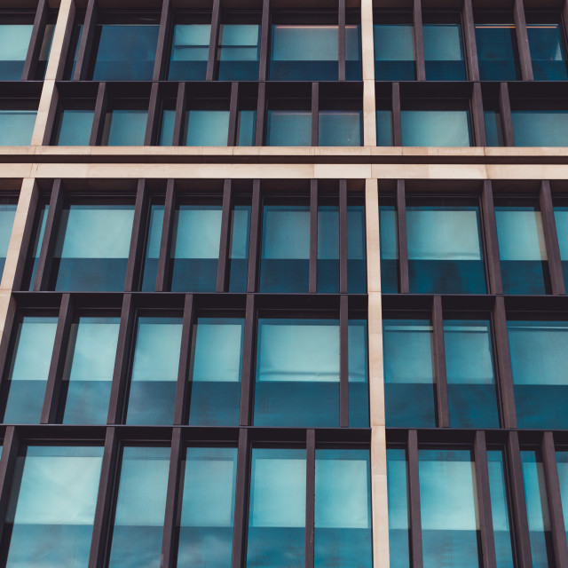 """Windows of exterior of modern office city building London"" stock image"