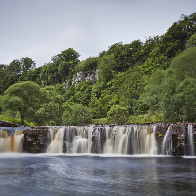 """Wain Wath Force on the River Swale"" stock image"