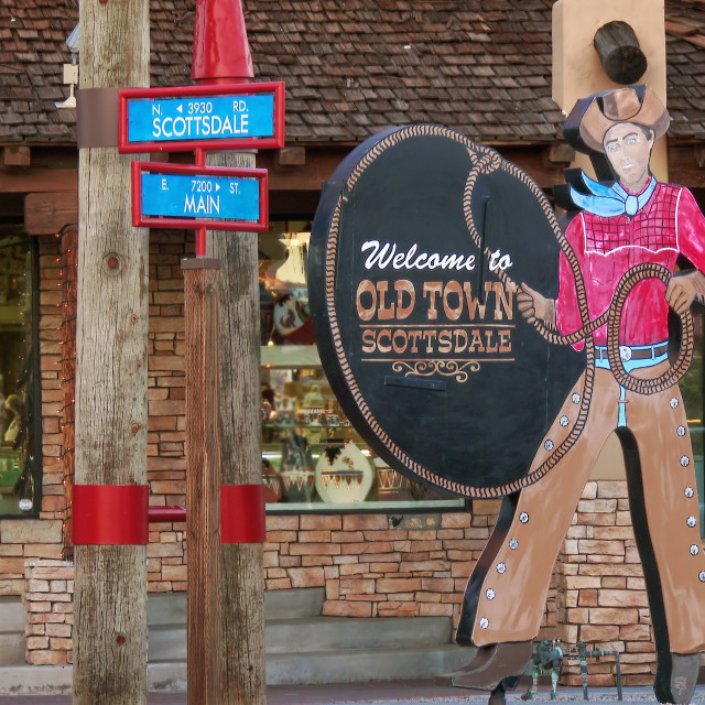"""""""Old Town Scottsdale Sign"""" stock image"""