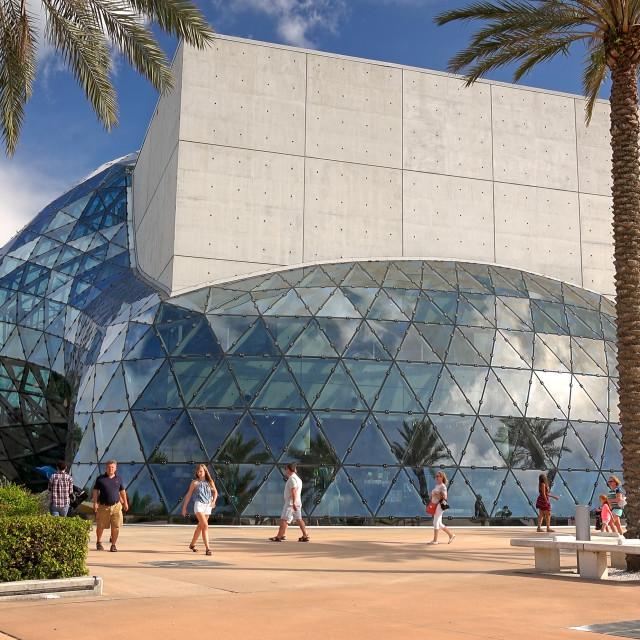 """Tourists at the Salvador Dali Museum in St Petersburg, Florida"" stock image"