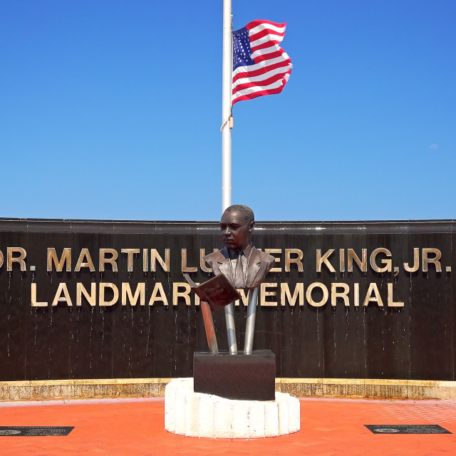 """""""Dr Martin Luther King Jr Landmark Memorial in West Palm Beach, Florida"""" stock image"""