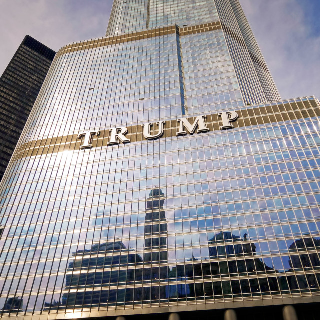 """""""Trump Tower High-Rise in Downtown Chicago, Illinois"""" stock image"""