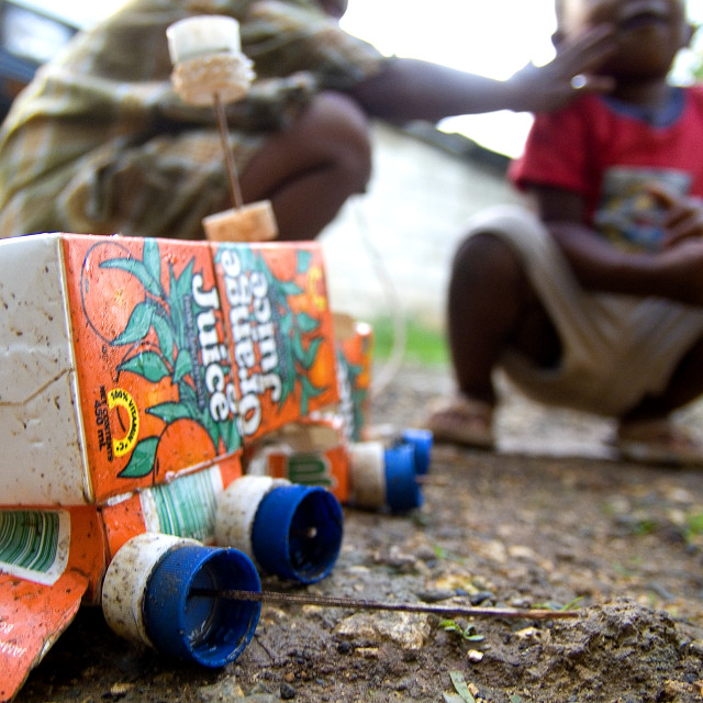 """Homemade Toys Jamaica"" stock image"