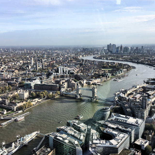 """""""An aerial view of London"""" stock image"""