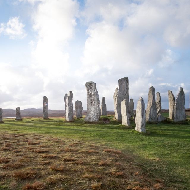 """Callanish Stones"" stock image"