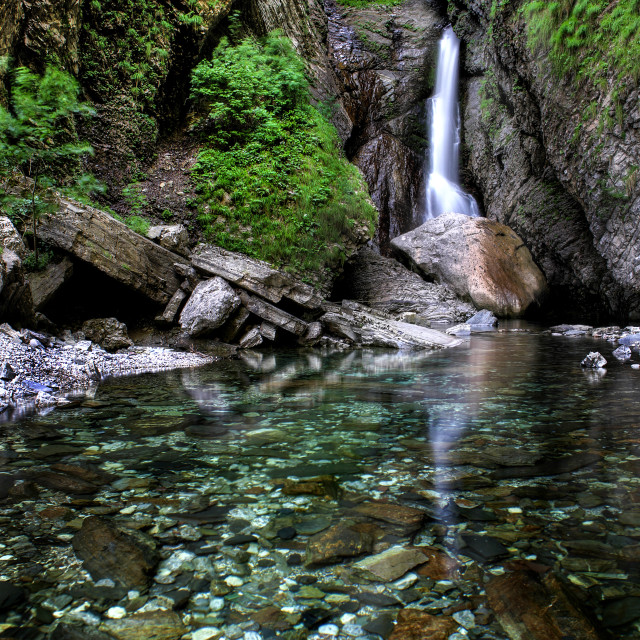 """""""Mountain Torrent in Slovenian Alps"""" stock image"""