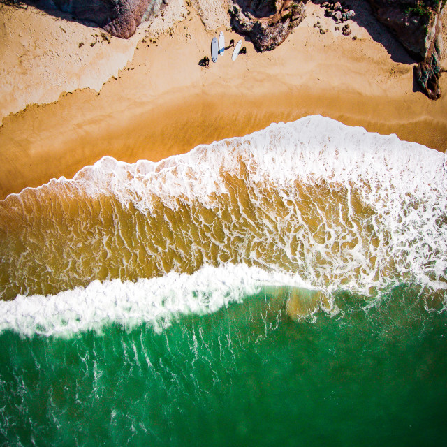 """Baleal beach Aerial"" stock image"