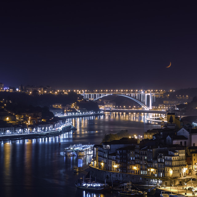 """Porto night view"" stock image"