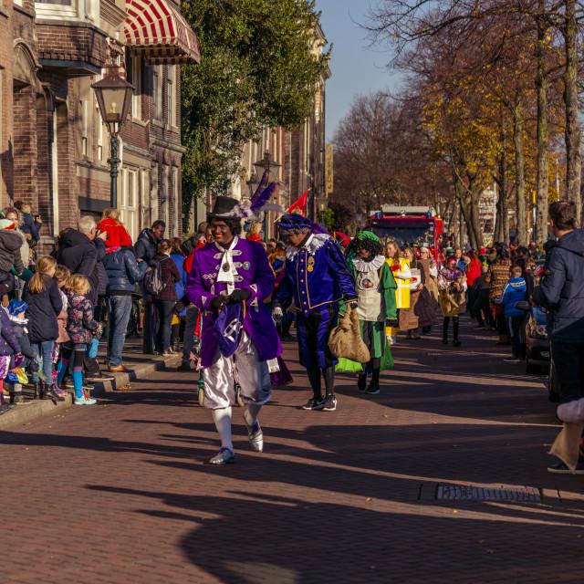 """""""Parade of Sinterklaas"""" stock image"""