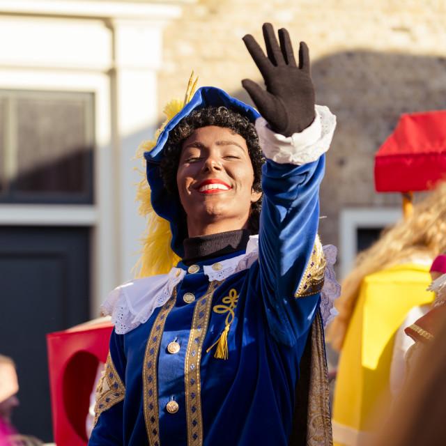 """Beautiful Piet waving"" stock image"