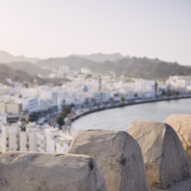 """Muscat city at sunset"" stock image"
