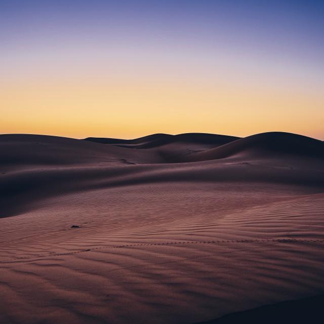 """""""Desert before sunrise"""" stock image"""