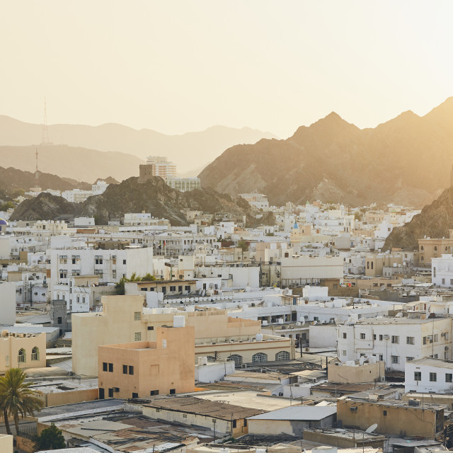 """""""Cityscape view of Muscat"""" stock image"""