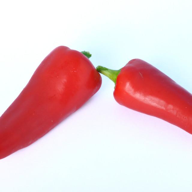 """Red long pepper"" stock image"