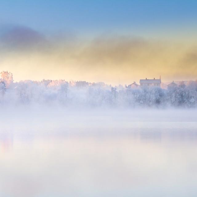 """Hazy winter day"" stock image"