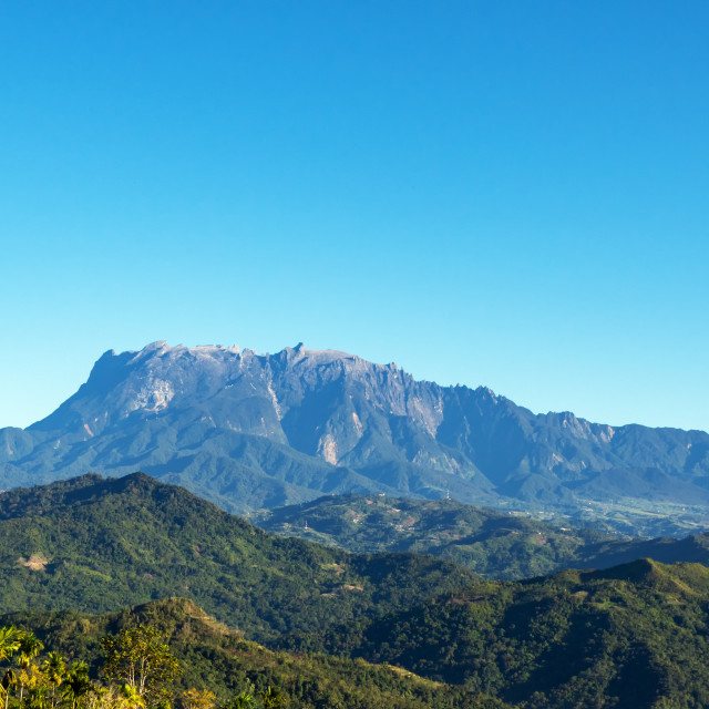 """Mount Kinabalu national park scenery"" stock image"