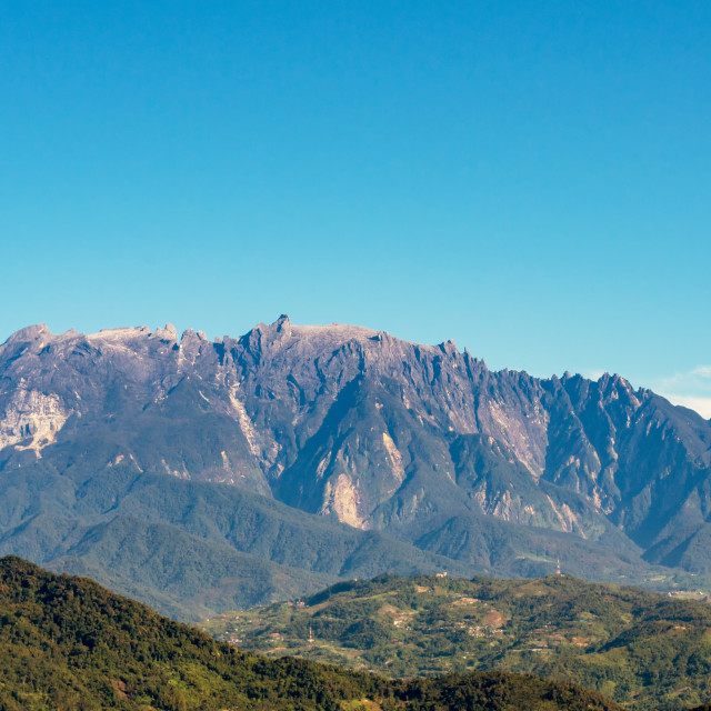 """Mount Kinabalu national park scenery in Kundasang"" stock image"
