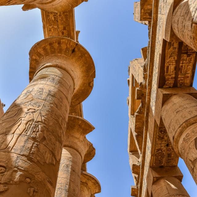 """""""The temple of Amon-Re at Karnak"""" stock image"""
