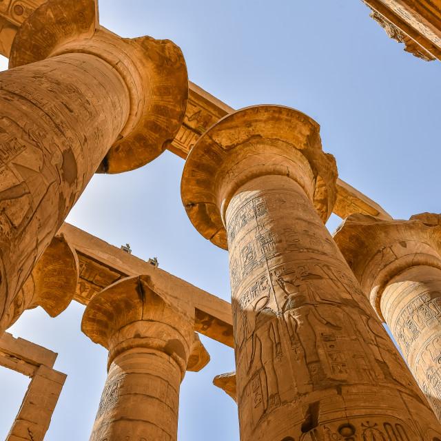 """The Karnak temple of Amon-Re"" stock image"