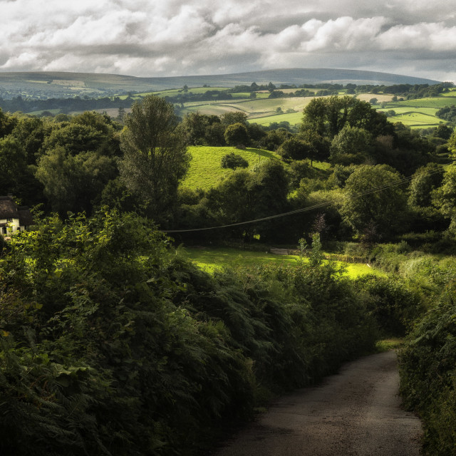 """The way to Chagford."" stock image"