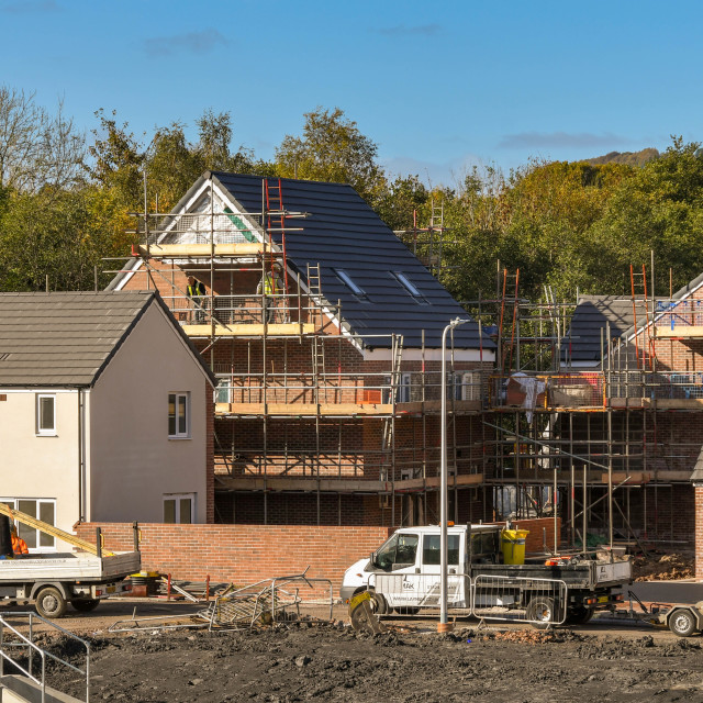 """""""Construction work on a new housing development"""" stock image"""