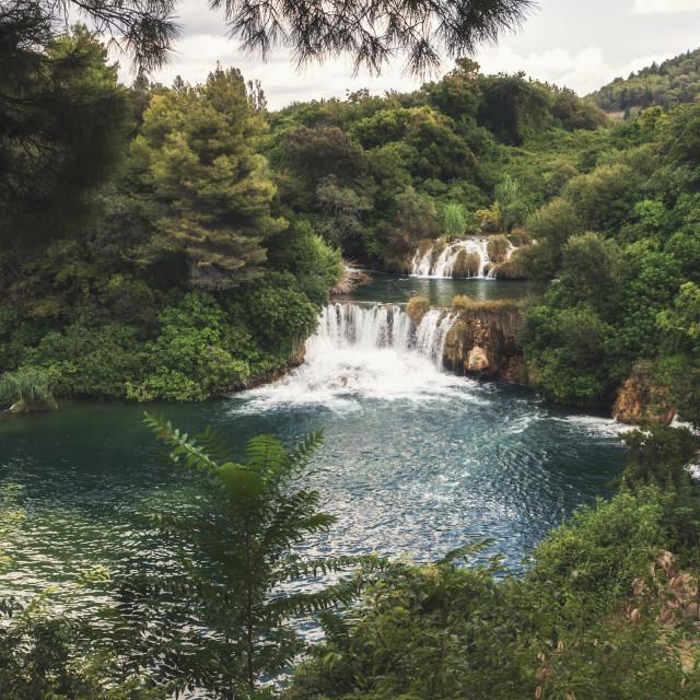 """Krka National Park - waterfall Skradinski buk in Croatia"" stock image"