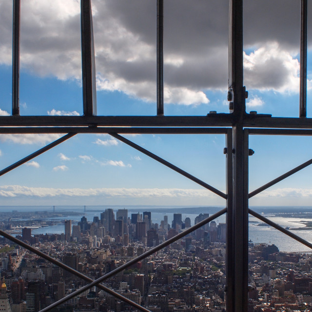 """New York City skyline view from empire state building"" stock image"
