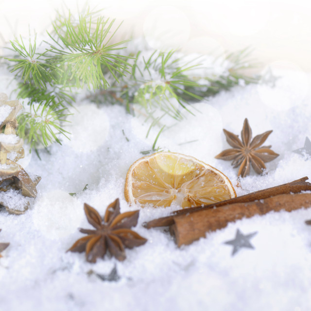 """spices in christmas and winter decoration"" stock image"