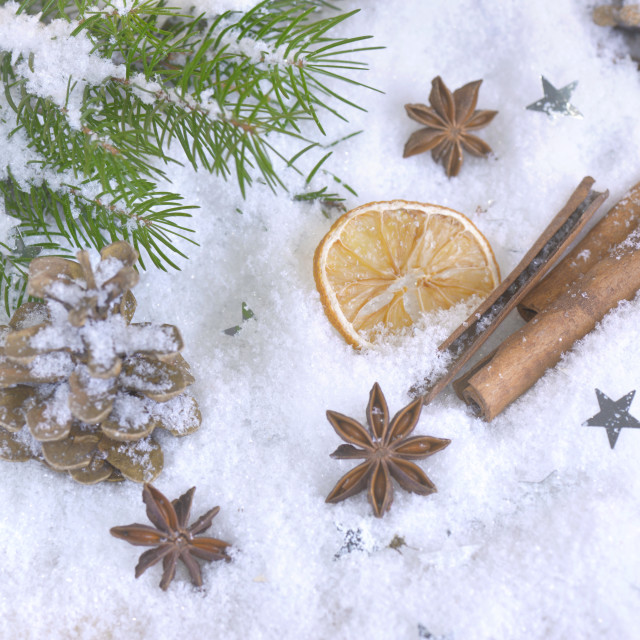 """spices in christmas and decembrer decoration"" stock image"