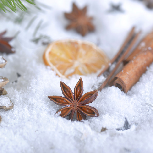 """spices in christmas decoration"" stock image"