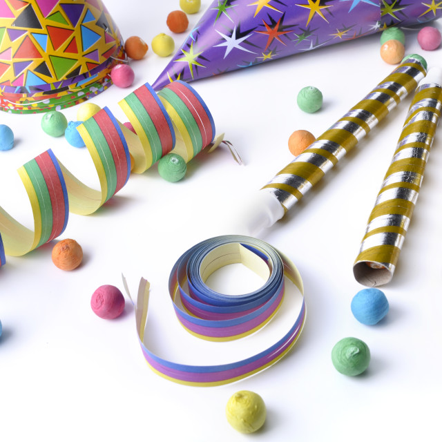 """colorful cotillons for party"" stock image"