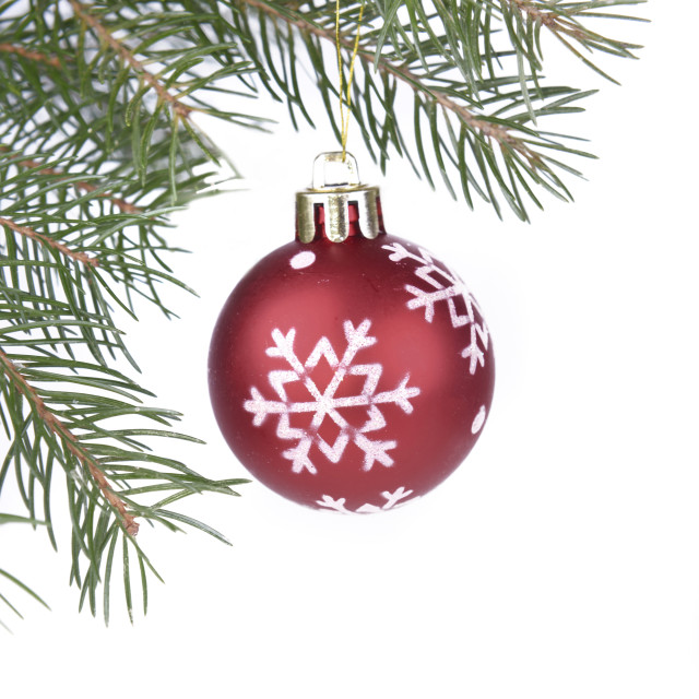 """christmas red bauble"" stock image"