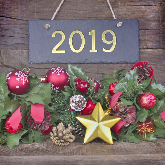 """2019 new year greeting card"" stock image"