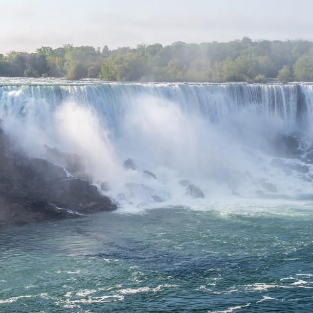 """""""A view of the American Falls at Niagara Falls"""" stock image"""