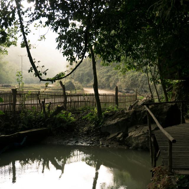 """""""Scenery at Vang Vieng, Laos"""" stock image"""