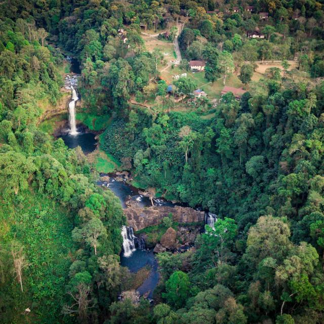 """""""Bolaven Plateau at south Laos - Tad e-Tu Waterfalls"""" stock image"""