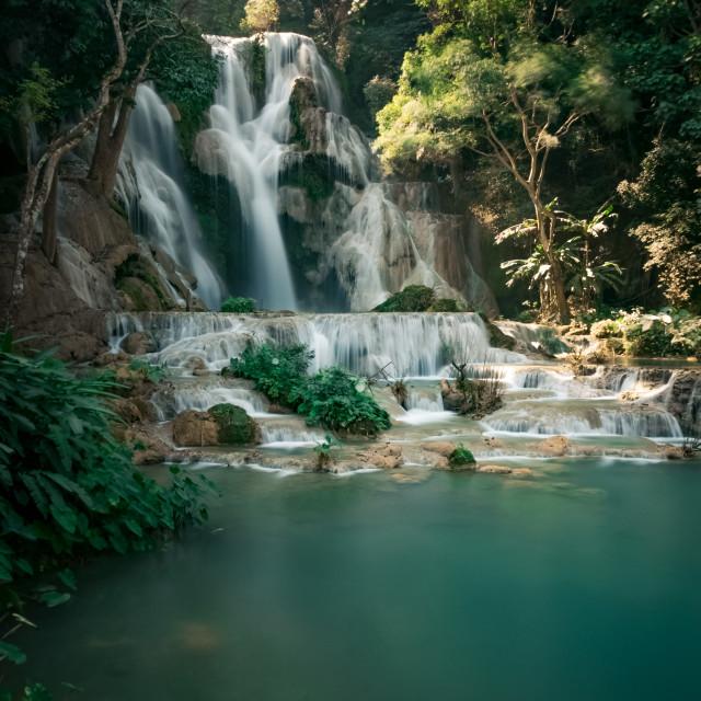 """Kuang Si Waterfall - Luang Prabang northern Laos"" stock image"