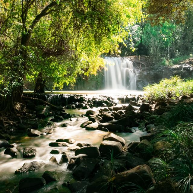 """Waterfall - South Laos Pakse bolaven-plateau"" stock image"