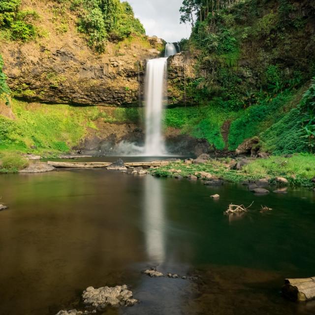 """""""Laos - Pakse Waterfall Tad E-Tu at Bolaven-Plateau"""" stock image"""