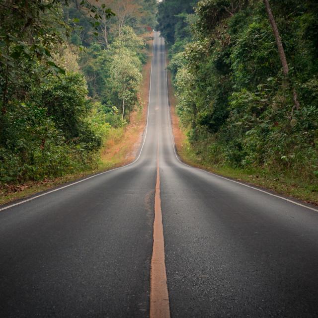 """Steep Street at Khao Yai National Park, Thailand"" stock image"