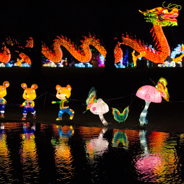"""Magical Lantern Festival"" stock image"