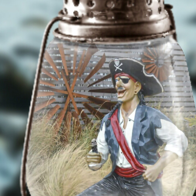 """""""Pirate in a jar"""" stock image"""