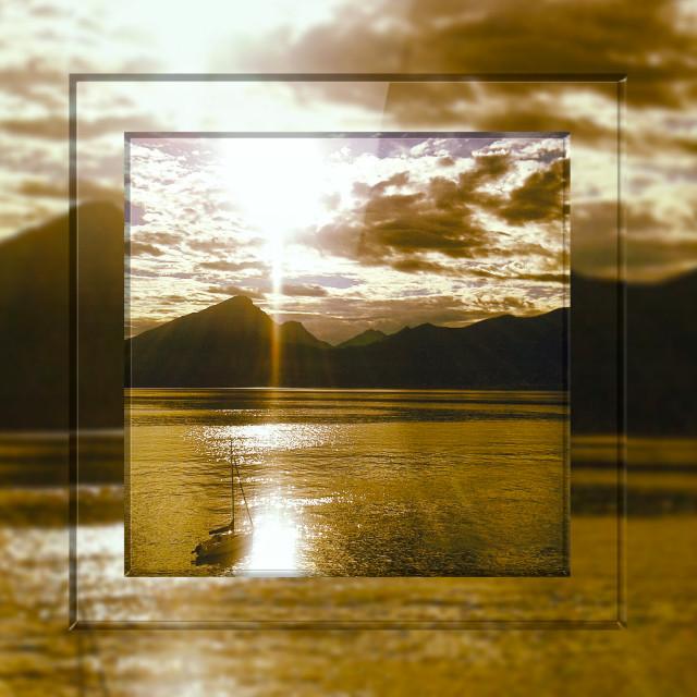 """""""Framed sunset"""" stock image"""