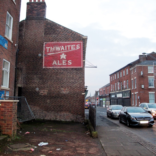 """Thwaites Ales, Blackburn"" stock image"