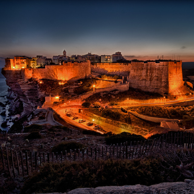"""Bonifacio Sunset - Corsica"" stock image"