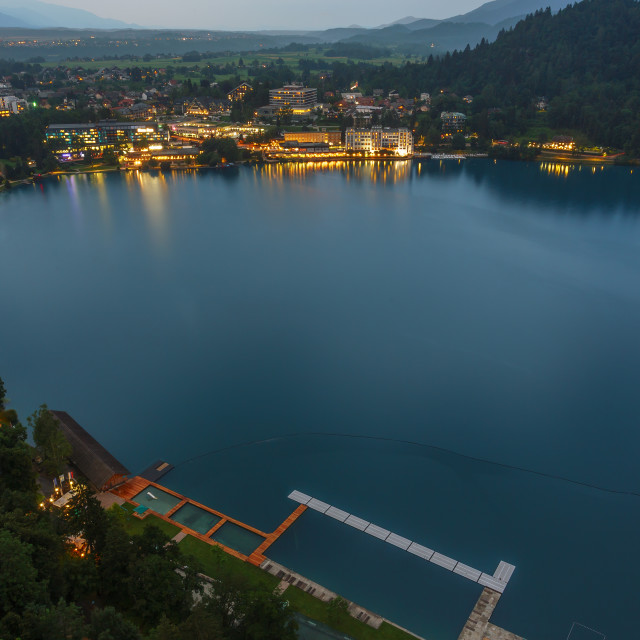 """""""Lake Bled in the Julian Alps"""" stock image"""