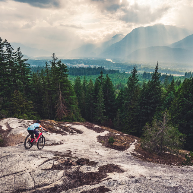 """Large Rock Slab in Squamish"" stock image"